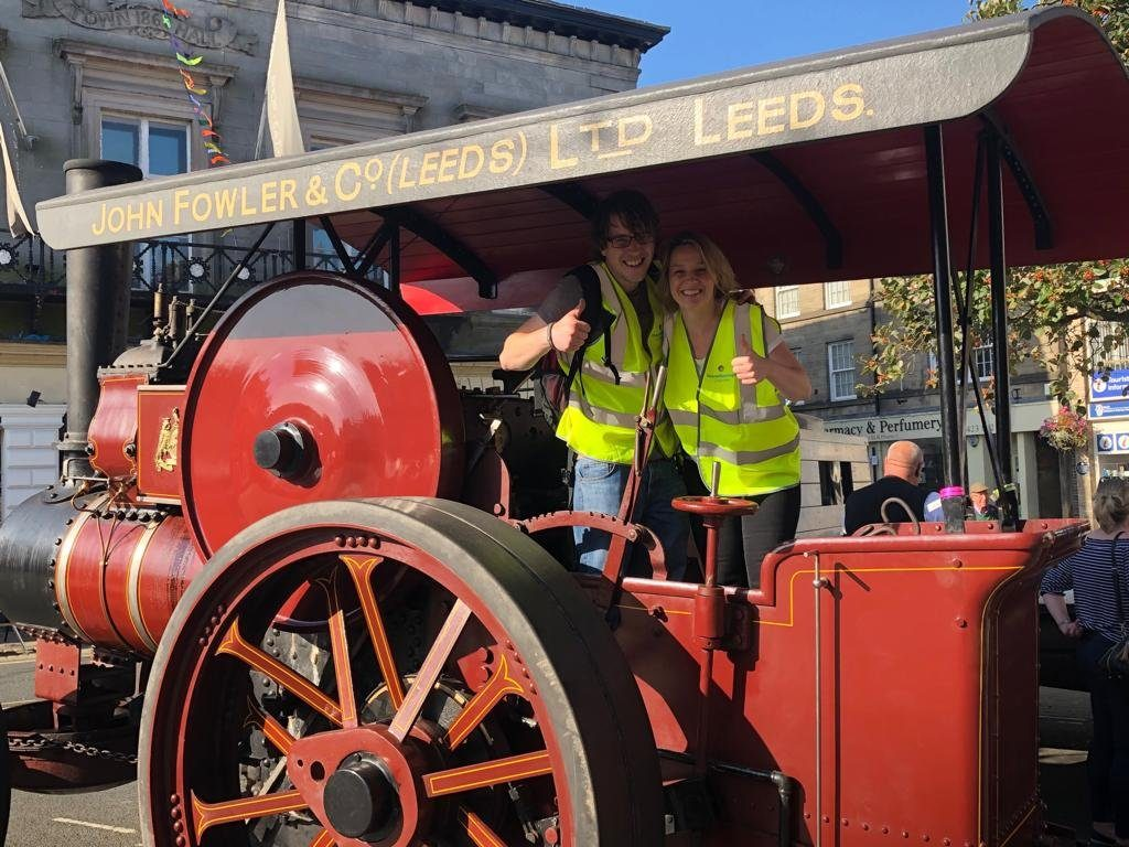 Cenheard founders on a steam engine in Knaresborough