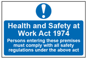 Cenheard, Health and safety at work act sign
